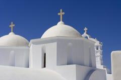 De Orthodoxe kerk van Cycladic Stock Fotografie