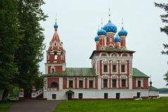 De Orthodoxe kerk van heilige Dimitriy in Uglich Royalty-vrije Stock Foto's