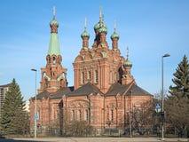 De orthodoxe kerk van Tampere, Finland Royalty-vrije Stock Foto's