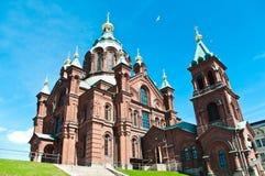 De Orthodoxe Kerk van Uspenski in Helsinki, Finland Stock Afbeeldingen