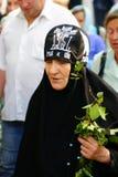 De orthodoxe mensen vieren een Pinksteren Stock Foto