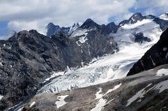 De Ortles gletsjer, Bolzano - Italië Stock Foto's