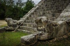 De Osario-piramide in Complexe de Stad van Chichen Itza, Yucatan, Mexico Stock Fotografie