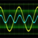 De oscilloscoop 3D illustratie van de textuurgolf Royalty-vrije Stock Afbeelding