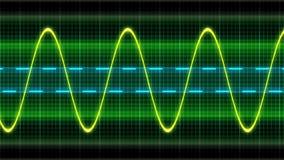 De oscilloscoop van de textuurgolf stock afbeelding