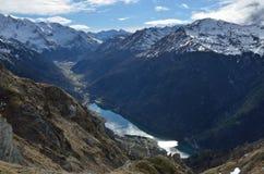 De Ossau-vallei van hierboven royalty-vrije stock afbeeldingen