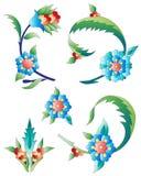 De ottomanekunst bloeit elf Stock Foto's
