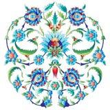 De ottomanekunst bloeit zeven Stock Afbeelding