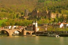De Oud Brug van Heidelberger en Kasteel, de zomer van 2010 Stock Afbeeldingen