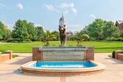 De oud Fontein en Tiger Plaza van Missouri bij de Universiteit van Misso royalty-vrije stock fotografie