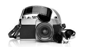 De oude 35mm camera van de filmfoto Stock Fotografie