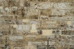 De oude aangetaste lopende achtergrond van de bindsteenmuur Royalty-vrije Stock Afbeeldingen