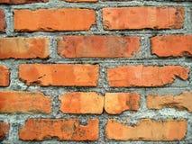 De oude achtergrond van barstbakstenen De bouwtextuur Rode bakstenen muurachtergronden royalty-vrije stock afbeeldingen