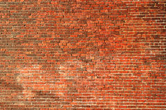 De oude Achtergrond van de Bakstenen muur stock afbeeldingen