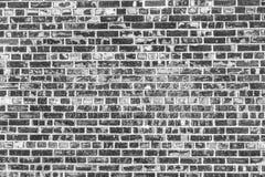 De oude Achtergrond van de Bakstenen muur De textuur van Grunge Zwart behang Stock Foto's