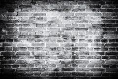 De oude Achtergrond van de Bakstenen muur De textuur van Grunge Zwart behang donker Royalty-vrije Stock Foto