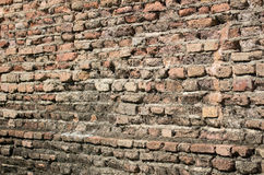 De oude achtergrond van de bakstenen muurtextuur Royalty-vrije Stock Foto's