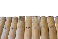 De oude achtergrond van de bamboemuur op witte achtergrond Stock Foto