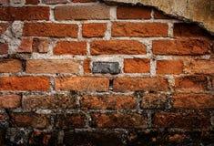 De oude achtergrond van de grungebakstenen muur Stock Foto