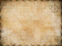 De oude achtergrond van de kaartexploratie vector illustratie