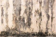 De oude Achtergrond van de muur zwarte vlek Royalty-vrije Stock Afbeeldingen