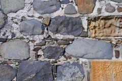 De oude achtergrond van de steenmuur Stock Afbeeldingen