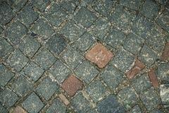 De oude achtergrond van de steenmuur, dichte omhooggaand van de bakstenen muur grunge textuur Royalty-vrije Stock Foto's