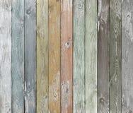 De oude achtergrond van kleuren houten planken royalty-vrije stock afbeelding