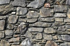 De oude Achtergrond van de Muur van de Steen Royalty-vrije Stock Foto