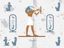 De oude achtergronden van Egypte Thoth is één van oude Egyptische deities royalty-vrije illustratie