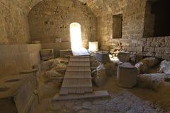 De oude akropolis van Lindos in Rhodos royalty-vrije stock foto