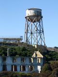 De oude Alcatraz-bouw, Amerika royalty-vrije stock afbeeldingen