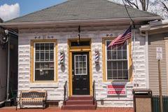 De oude Allentown-winkel van de Postkantoor nu kapper royalty-vrije stock fotografie