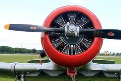 De oude Amerikaanse motor van het vechtersvliegtuig stock afbeelding