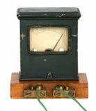 De oude ampèremeter stock afbeelding