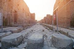 De oude archeologische plaats van Pompei Royalty-vrije Stock Afbeeldingen