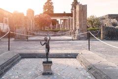 De oude archeologische plaats van Pompei Stock Foto