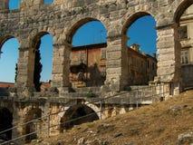 De Oude Architectuur Italië Roman Travel van Rome Colosseum stock afbeelding