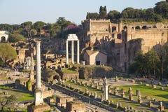 De oude Architectuur van Rome en Beeldhouwwerken, Rome Stock Foto