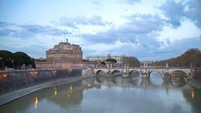 De oude Architectuur van Rome en Beeldhouwwerken, Rome Royalty-vrije Stock Afbeeldingen