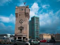 De oude architectuur van Savona op stadscentrum Royalty-vrije Stock Foto's