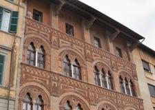 De oude architectuurbouw - Pisa, Italië Royalty-vrije Stock Afbeeldingen