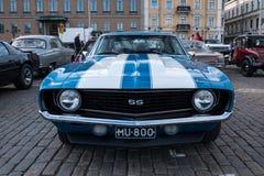 De Oude auto Chevrolet Camaro SS 427 van Helsinki, Finland Royalty-vrije Stock Foto's