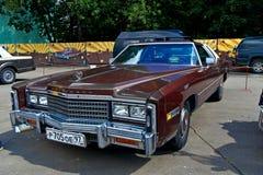 De oude auto toont op Retrofest. Eldorado van Cadillac Royalty-vrije Stock Foto's