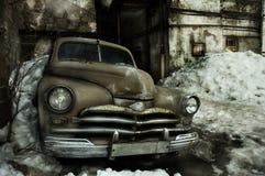 De oude auto van Grunge royalty-vrije stock foto's