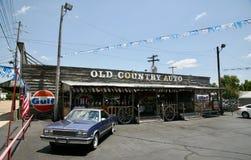 De oude Auto van het Land, Jackson, Tennessee stock fotografie