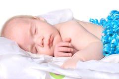 De oude baby van de maand zoals huidig in doos Royalty-vrije Stock Fotografie