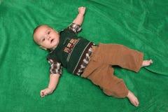 De oude babyjongen van vier maanden Royalty-vrije Stock Foto