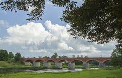 De oude baksteenbrug Royalty-vrije Stock Afbeelding