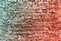 De oude bakstenen muren De textuur van de baksteen Oude muur Kan als prentbriefkaar worden gebruikt Rode, bruine baksteenachtergr stock afbeelding